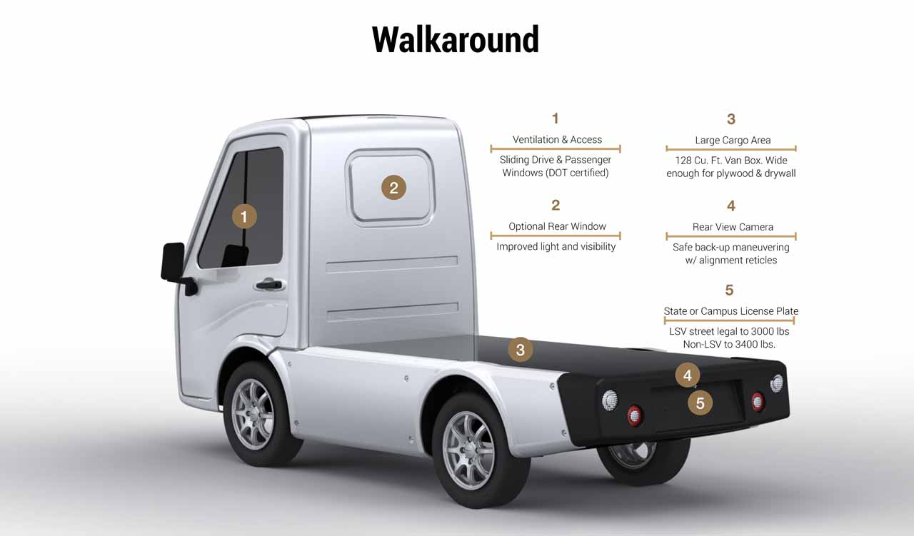 compact electric truck rear bed options