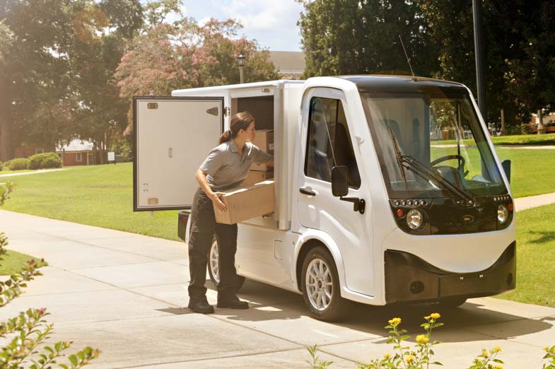 Small electric truck with van box