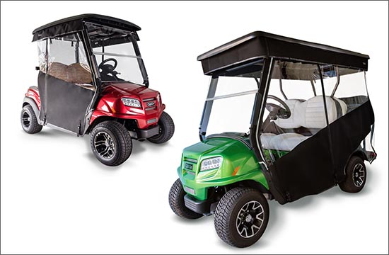 Golf cart all weather enclosures