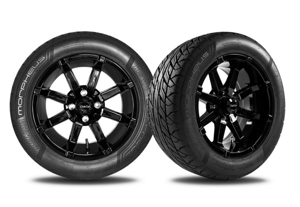 Aerion 14 inch wheels gloss black with Morpheus tire