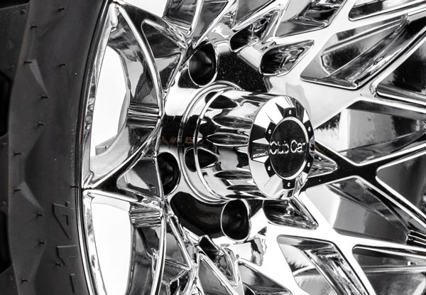 Athena 14 inch wheels chrome close up