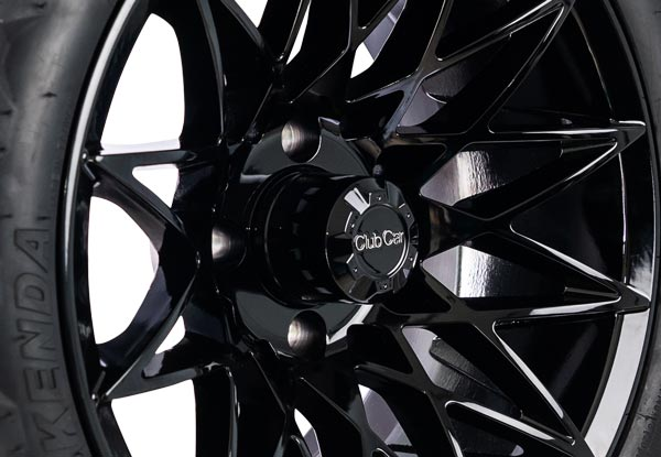 Athena 14 inch wheels gloss black close up