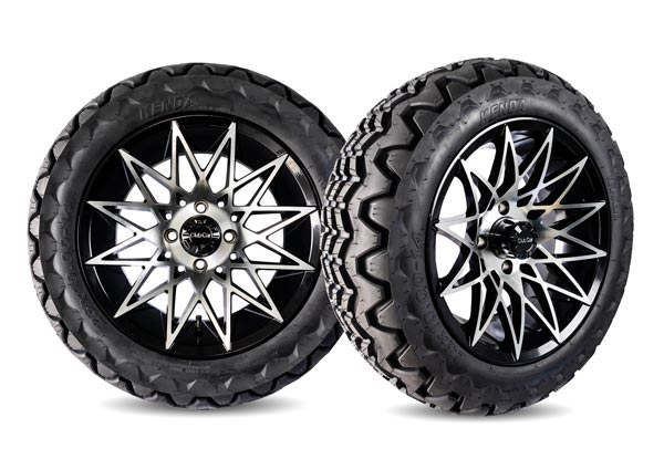Athena 14 inch wheels machined black