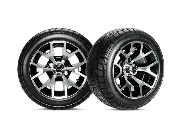 Atlas II 12 inch wheels gloss black