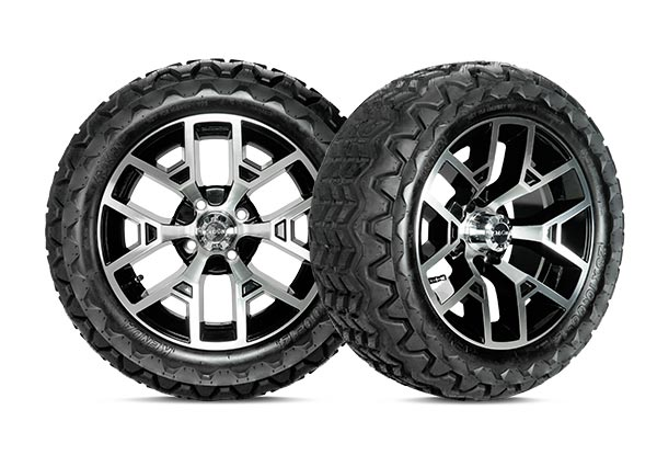 Atlas II 14 inch wheels gloss black