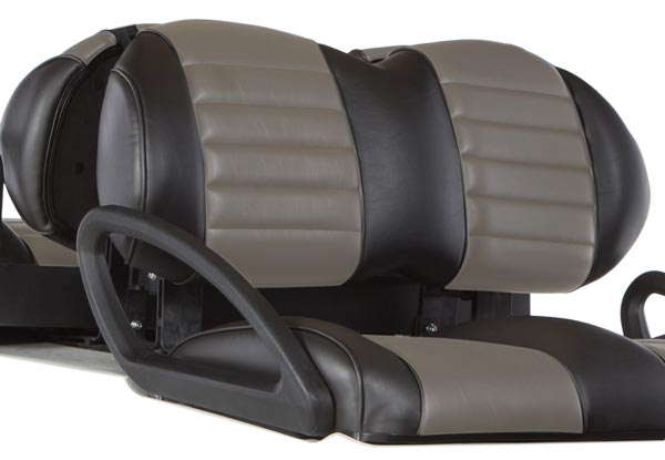 black and grey premium front seat