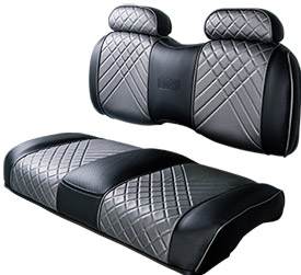 Black Grey Front High Back Seat sm