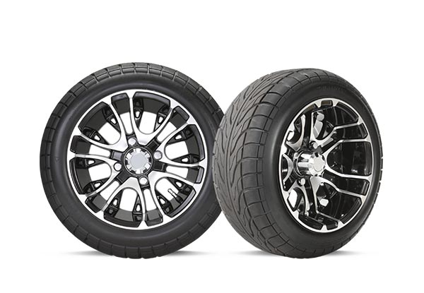 "12"" golf cart wheel with tire"