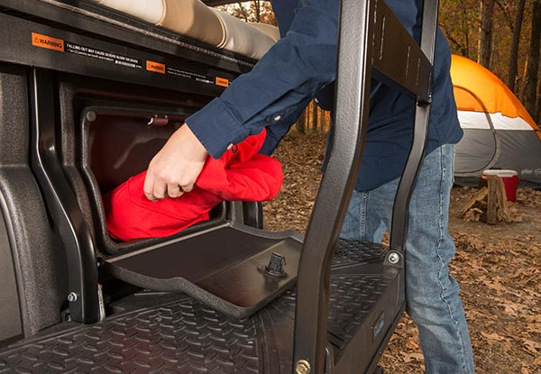 rear locking trunk storage