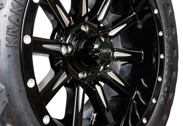 Zeus 14 inch wheels gloss black close up