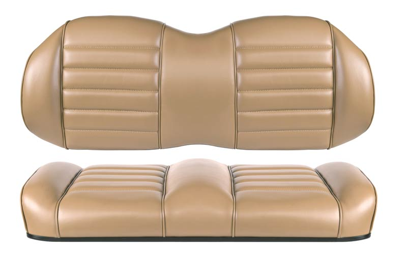 Beige premium comfort seats for fleet golf carts