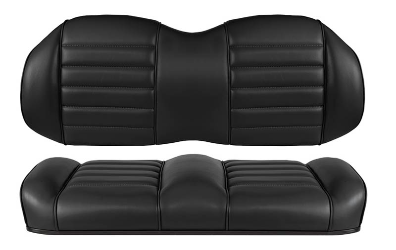 Black premium comfort seats for fleet golf carts
