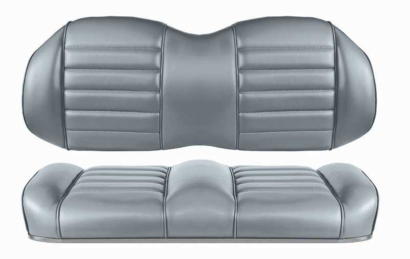 Grey premium comfort seats for fleet golf carts