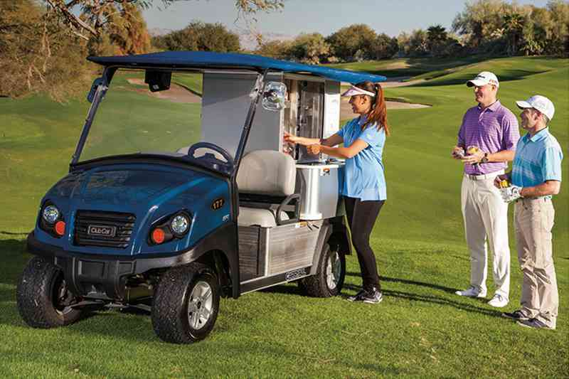 Food, beverage, and merchandise golf utility cart