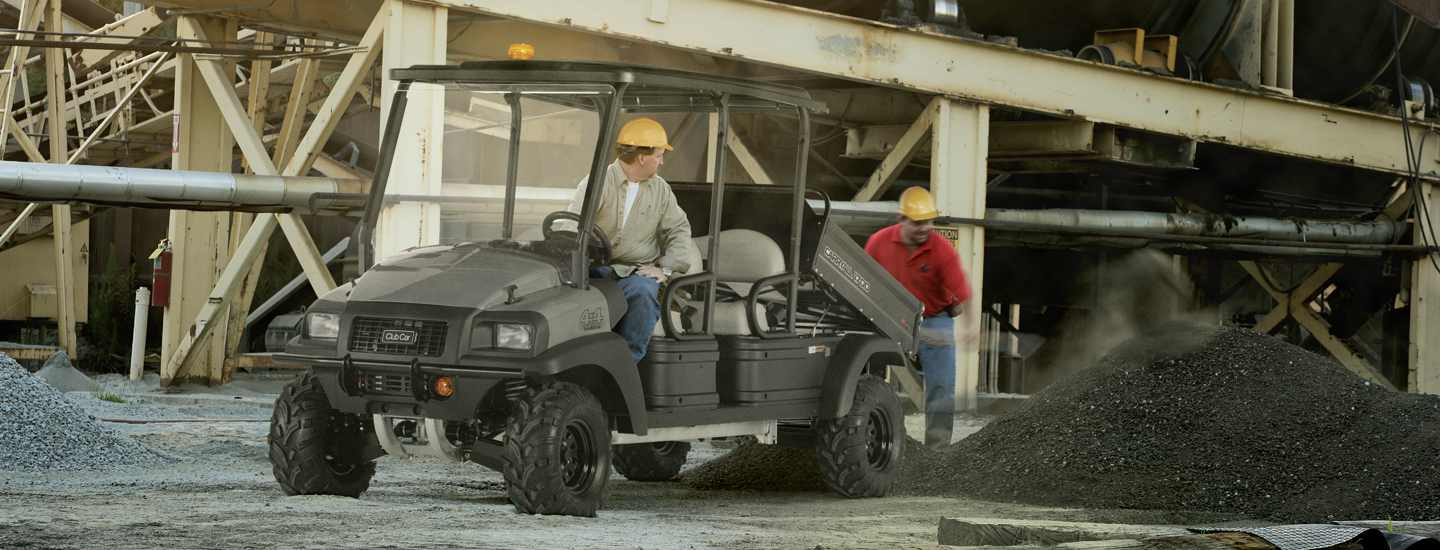 The Carryall 1700 is great utility vehicle rental for construction sites and much more