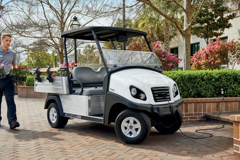 Electric campus utility vehicle