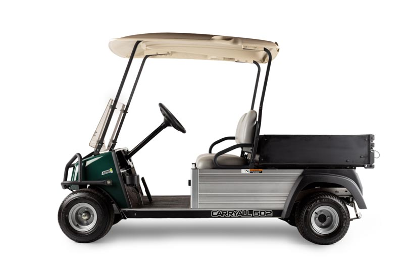Carryall 502 slim utility vehicle with narrow bed for rental fleets