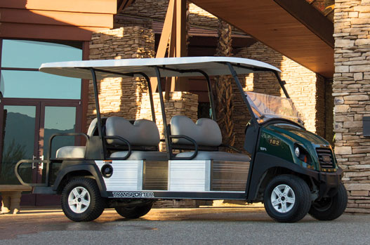 Resort guest transportation vehicle