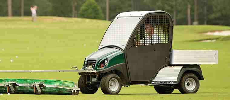 Turf Utility vehicles are versatile, for range pickers, golf course maintenance, and much more