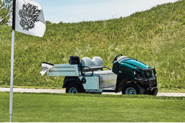 Golf course utility vehicle callout carryall 300 turf
