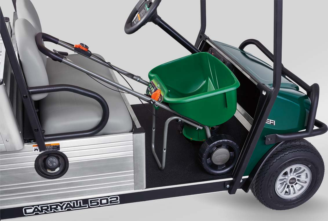 Golf course utility vehicle carryall 502 w spreader