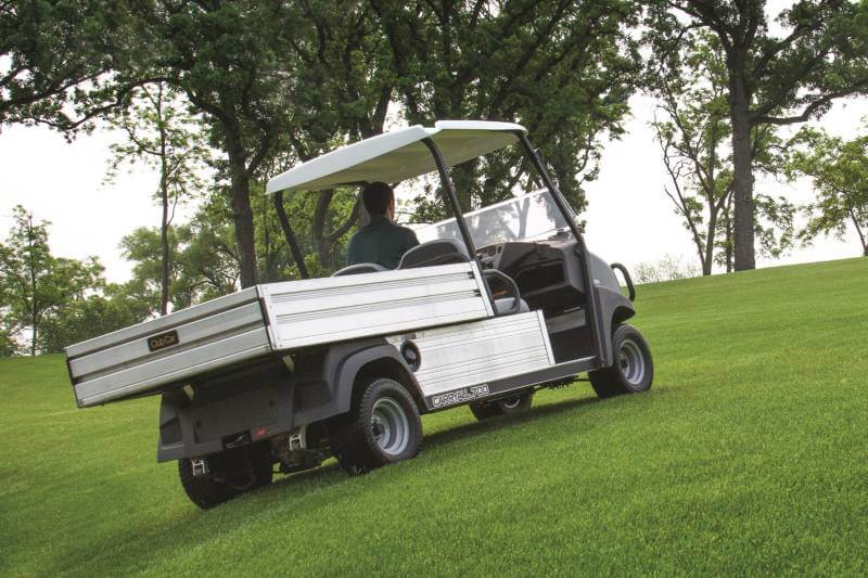 Golf turf vehicles provide back-of-house support, anywhere on the course - even the greens.