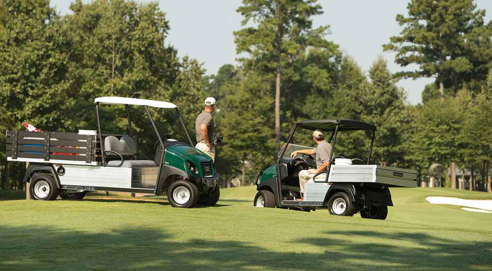 Carryall 300 turf vehicle from Club Car on golf course