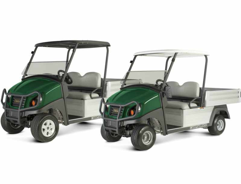 Club Car's small wheel turf utility vehicle package provides a smaller turn radius