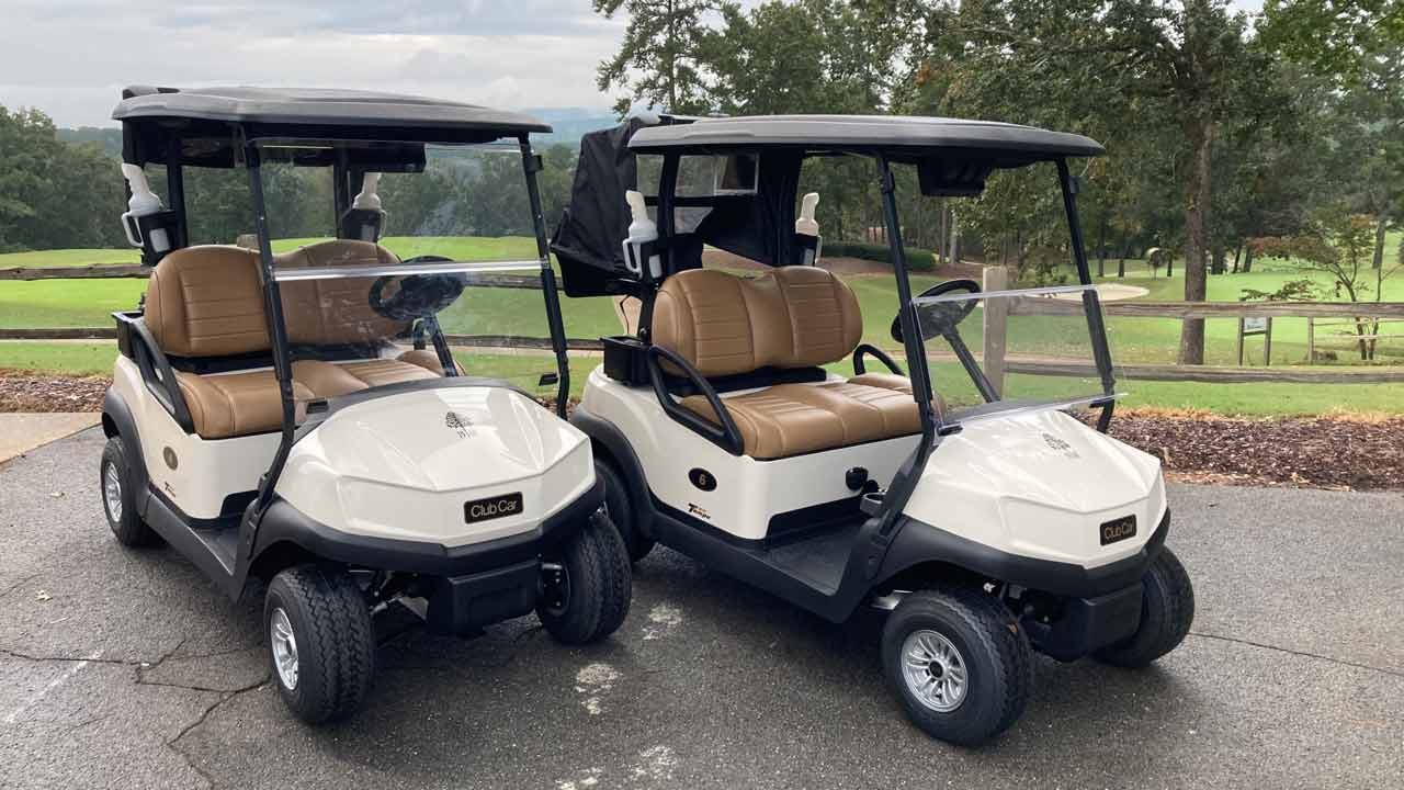 Tempo Golf Carts with Connect Tech and Car Control