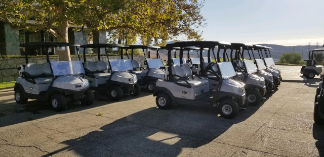 Tempo Lithium Ion golf carts at Bella Collina
