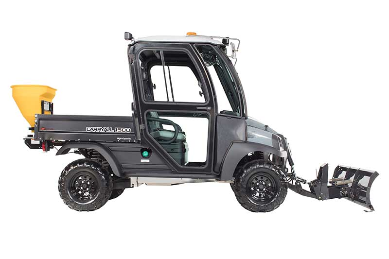 Custom Solutions Carryall 1500 utility vehicle with snow plow PP