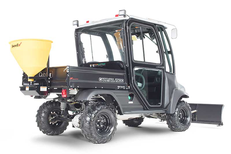 Custom Solutions Carryall 1500 utility vehicle with snow plow PR