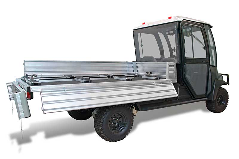 custom utility vehicle (UTV) with fold down bed