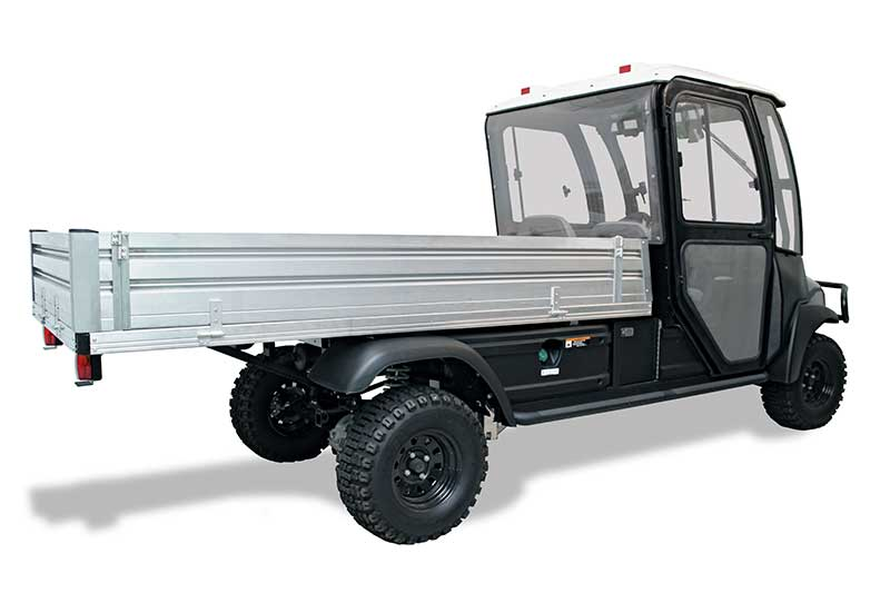 custom utility vehicle with fold down bed