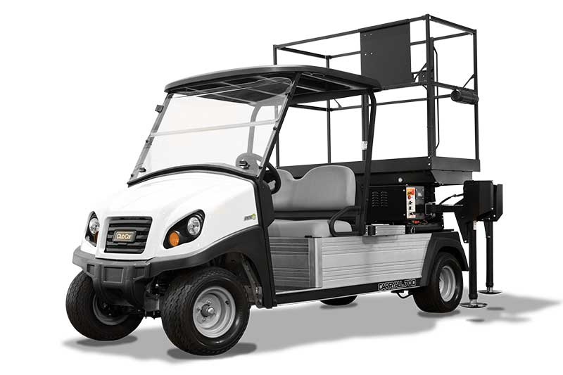 custom utility vehicle with scissor lift