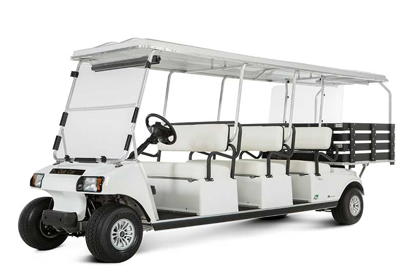 custom 6 passenger golf cart with rear bed