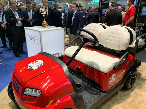 Club Car at the PGA Show Ryder Cup Car 54