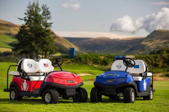 Club Car golf carts for Solheim Cup