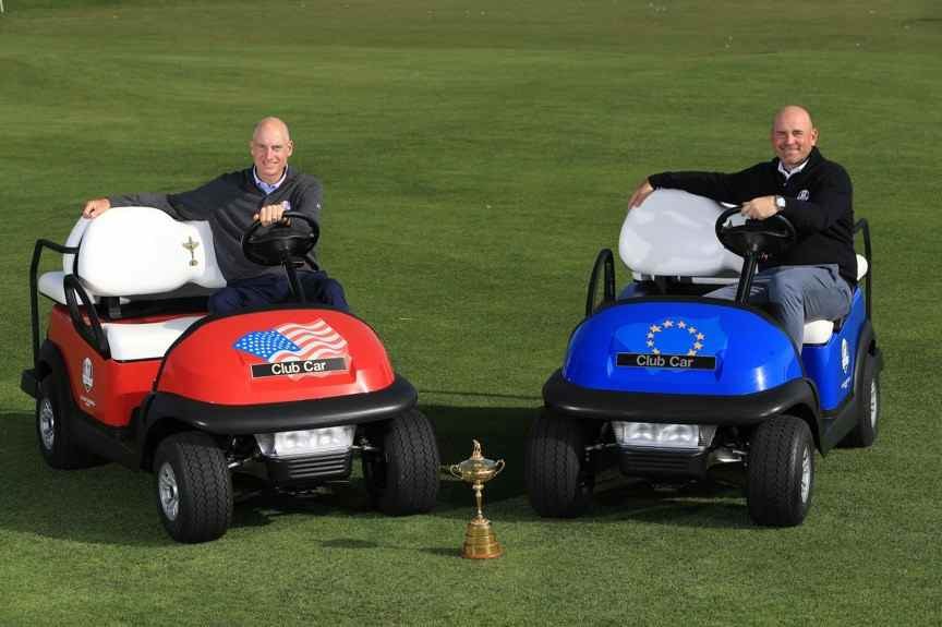 2018 Ryder Cup Club Car captain's cars