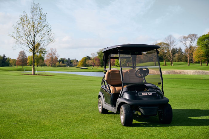 Precedent golf carts at Adare Manor feature Visage Technology