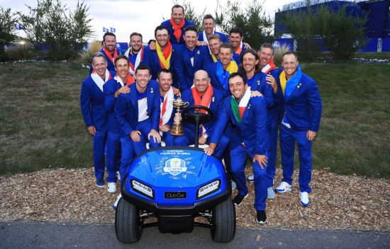 Team Europe with Club Car Tempo at 2018 Ryder Cup