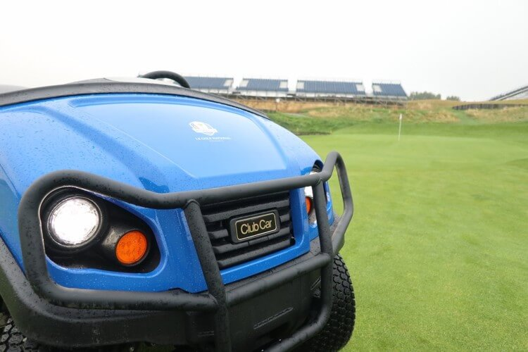 Club Car Carryall utility vehicles are being used at Le Golf National in Paris, France for the 2018 Ryder Cup