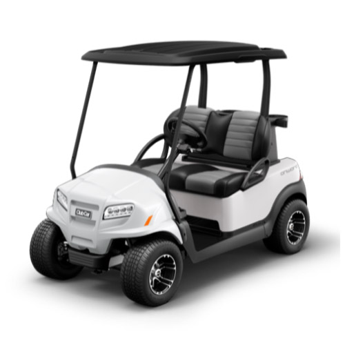2 Passenger Onward Golf Cart Metallic Glacier White