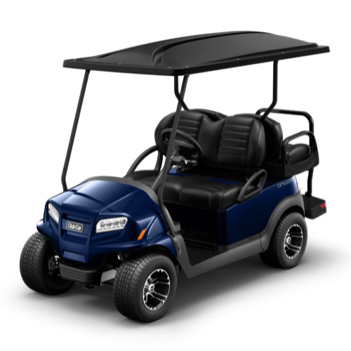 Dark blue golf cart paint