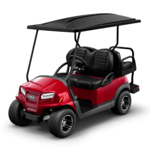 Red golf cart paint