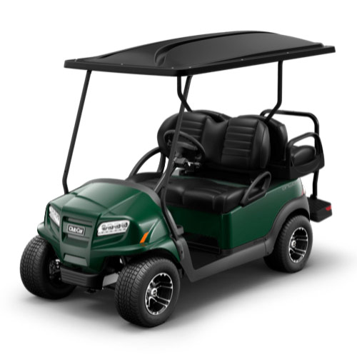 Dark green golf cart paint