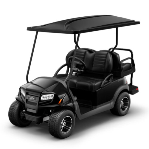 Black golf cart paint