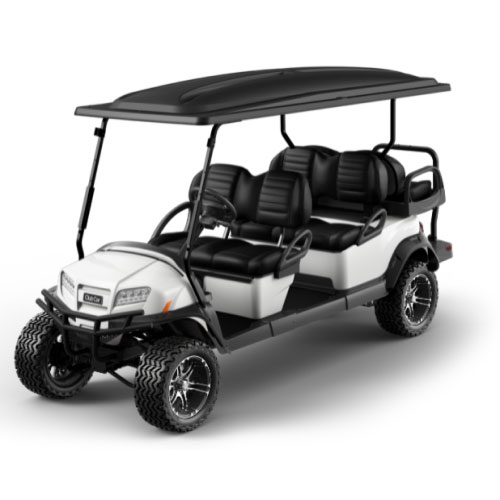Lifted 6 Passenger Golf Cart in White