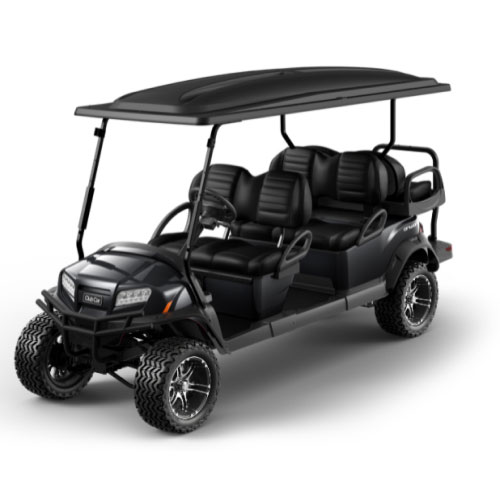 Lifted 6 Passenger Golf Cart in Black