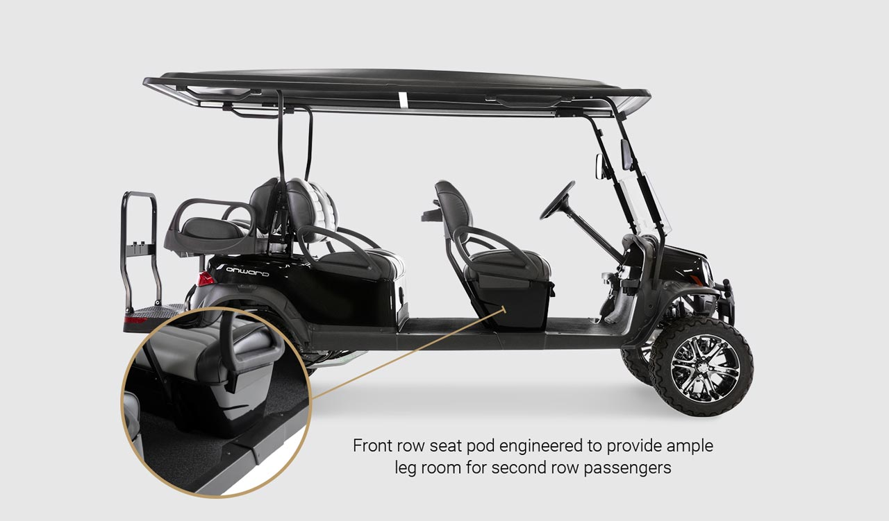Onward 6 Passenger golf cart Detail Slider 1